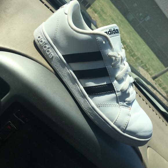 Adidas zapatos blanco y negro poshmark neo - superstar sneakers